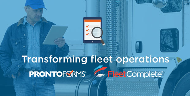 "Promo for ""Transforming Fleet Operations with ProntoForms and Fleet Complete"""