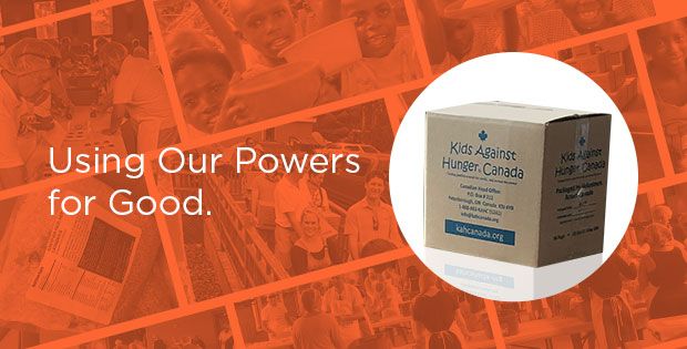 Using Our Powers for Good: Kids Against Hunger Canada