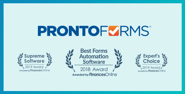 ProntoForms 2018/2019 FinancesOnline Forms Automation Awards