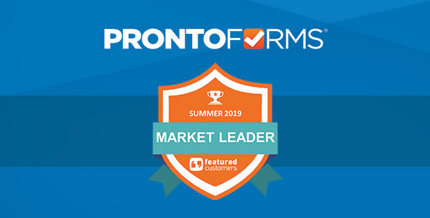 ProntoForms named FeaturedCustomers market leader