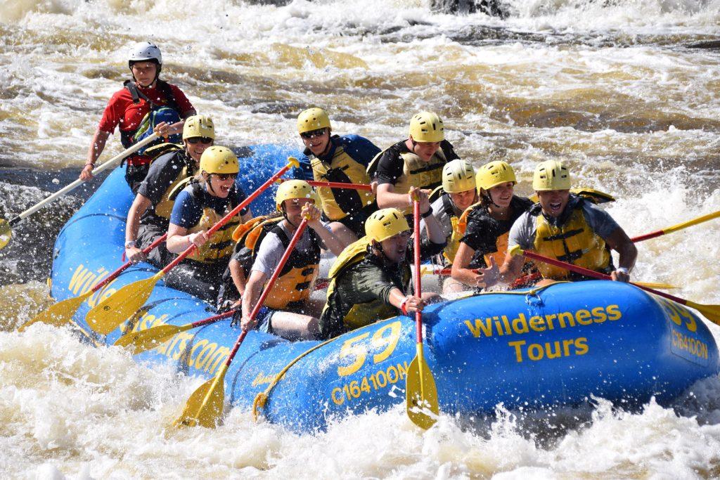 ProntoForms employees enjoying white-water rafting at Wilderness Tours