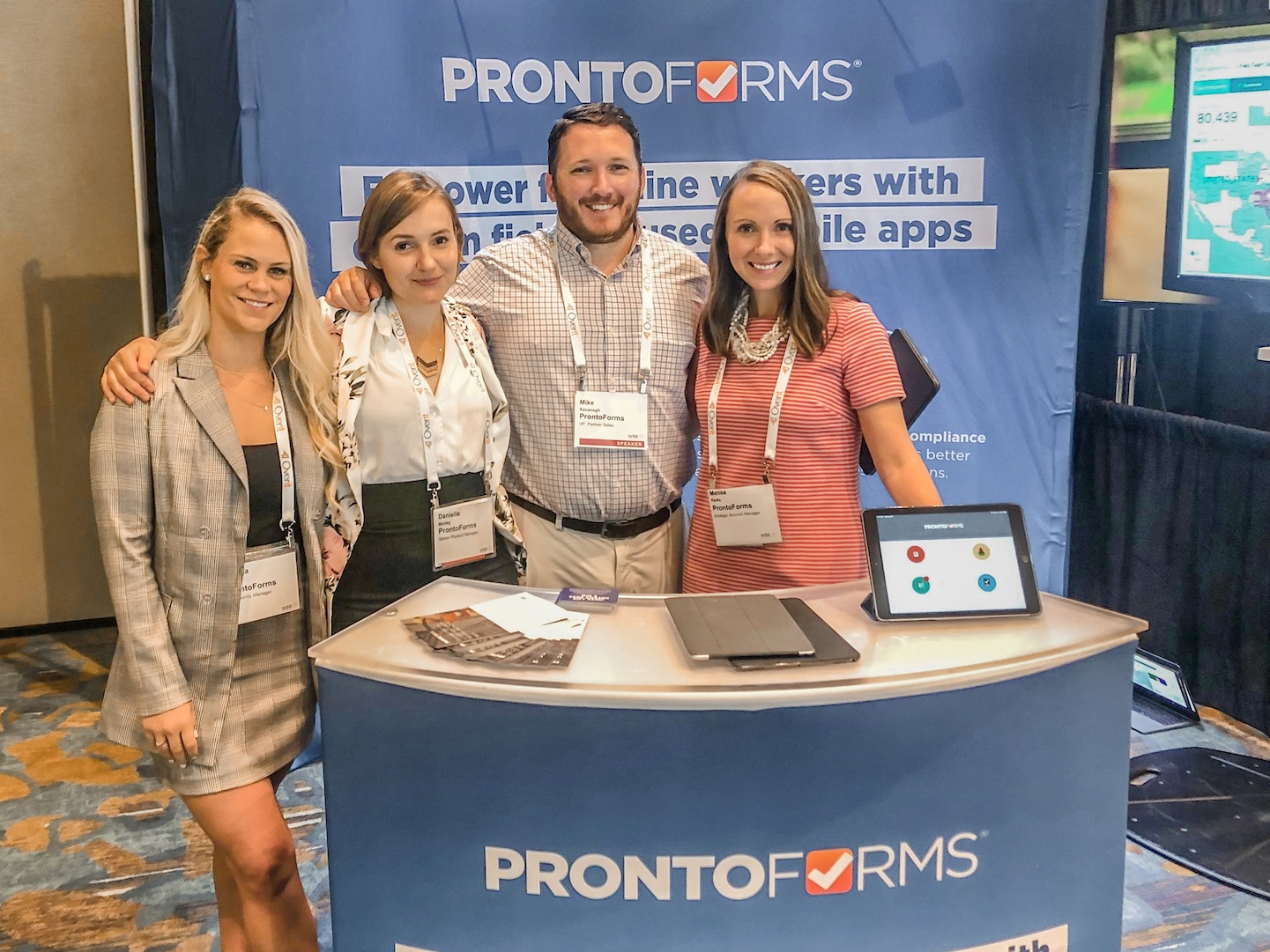 The ProntoFroms team at the ProntoForms booth at Field Service Amelia Island 2019