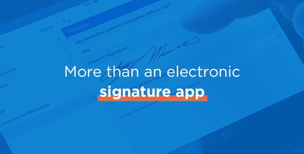 More than an electronic signature app