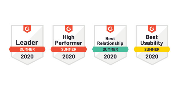 ProntoForms' Summer 2020 G2 badges