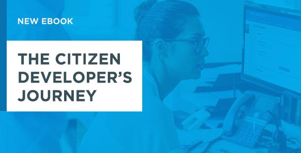 Download our eBook, The Citizen Developer's Journey. Secrets to mastering ProntoForms' low-code app platform.