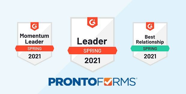 ProntoForms has been named by G2 users as the global leader in field-focused low-code application platforms for enterprise.