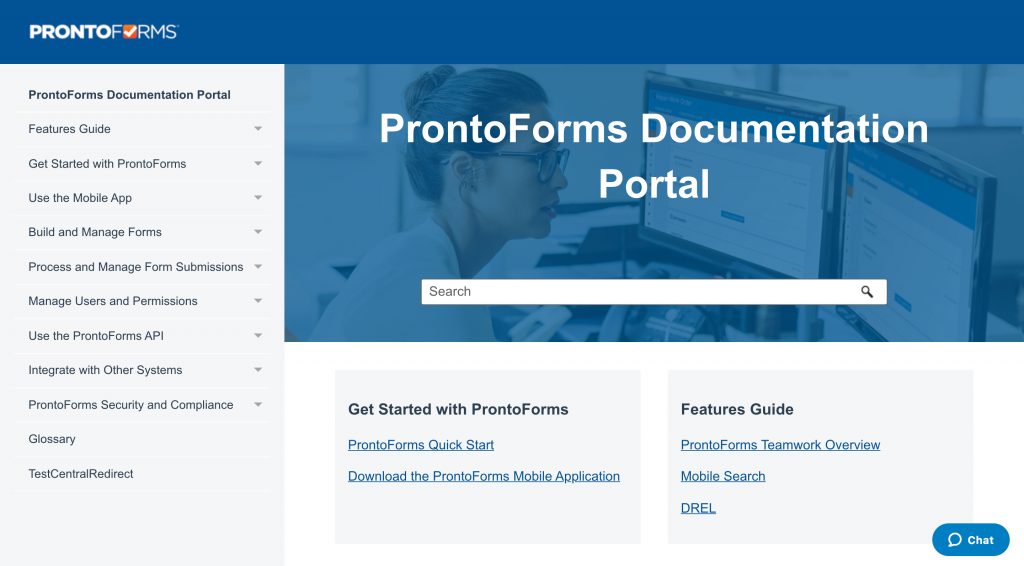 ProntoForms' Product Documentation Portal is crafted to help you take a deeper dive into our product.